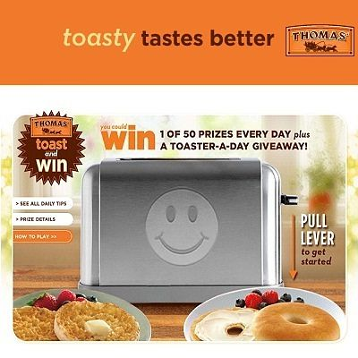 Win a Toaster plus 50 Prize Daily
